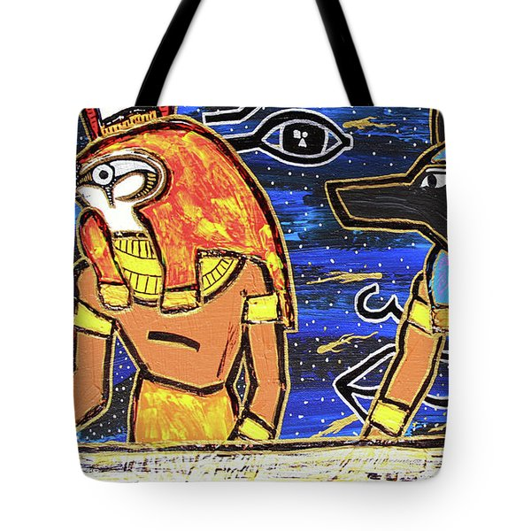 The Boat Of Ausar Passing Through The Underworld Tote Bag