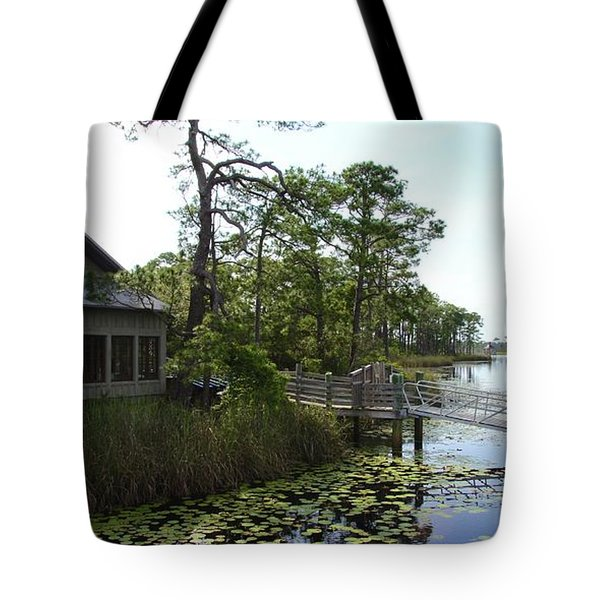 The Boathouse At Watercolor Tote Bag