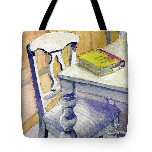 Tote Bag featuring the painting The Bookmark by Kris Parins