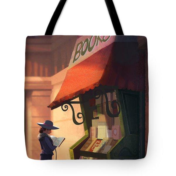 The Bookstore Tote Bag by Kristina Vardazaryan