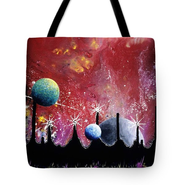 The Border Of Orion Tote Bag by Lee Pantas