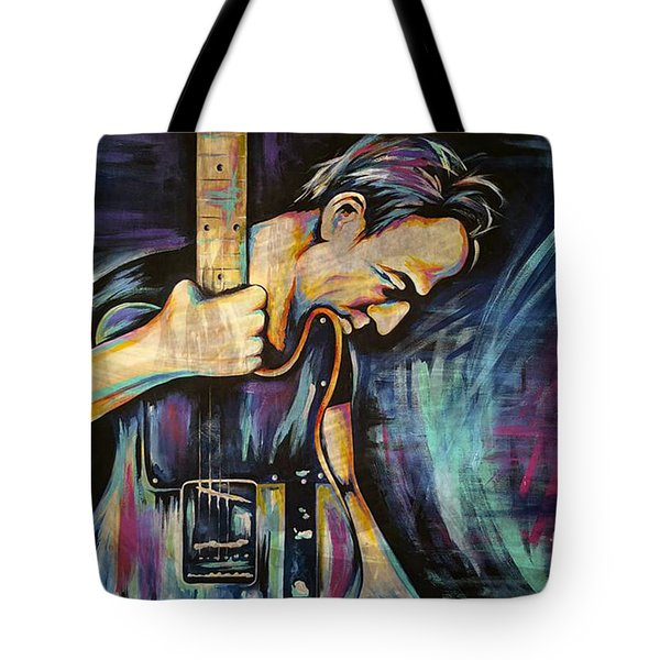 The Boss Bruce Springsteen Tote Bag by Amy Belonio