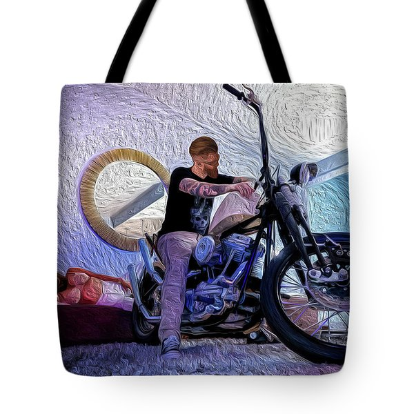 Tote Bag featuring the photograph The Boss- by JD Mims