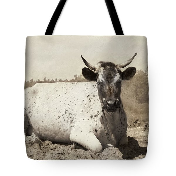 Tote Bag featuring the photograph The Boss by Robin-Lee Vieira