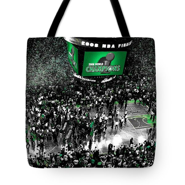 The Boston Celtics 2008 Nba Finals Tote Bag by Brian Reaves