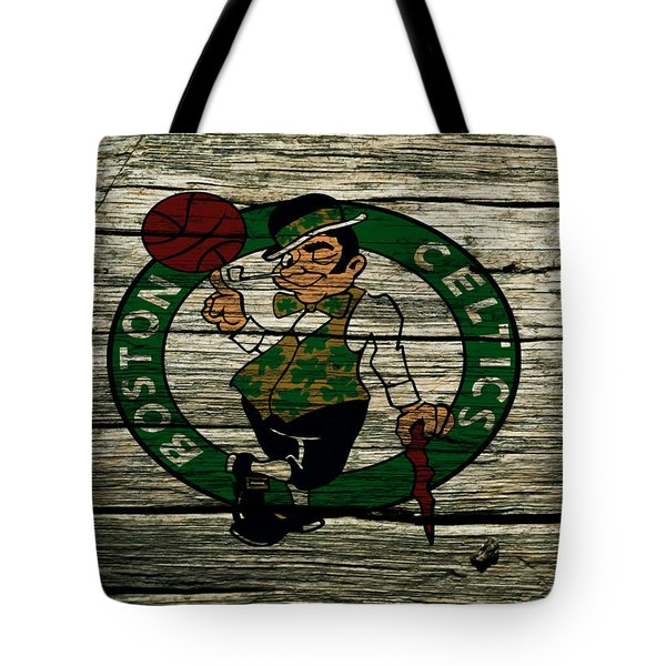 The Boston Celtics 2w Tote Bag by Brian Reaves