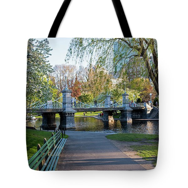 The Boston Public Garden In The Spring Boston Ma Tote Bag