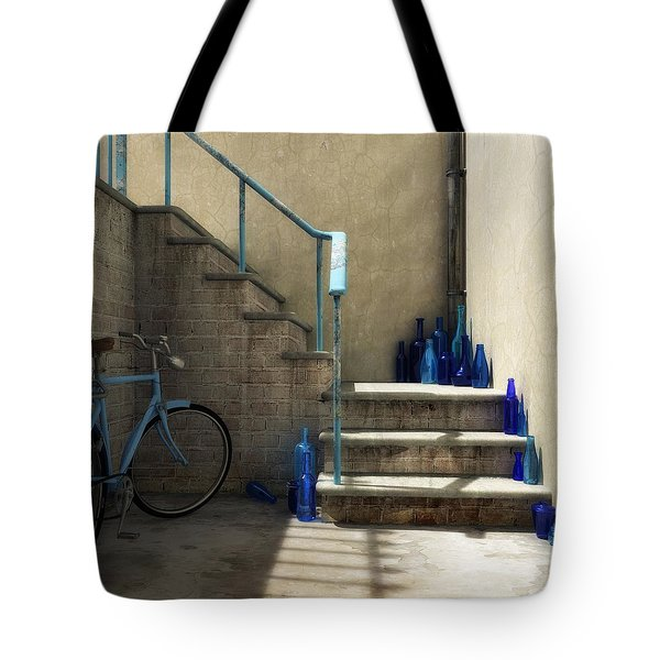 The Bottle Collector Tote Bag by Cynthia Decker