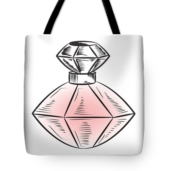 Tote Bag featuring the digital art The Bottle by ReInVintaged