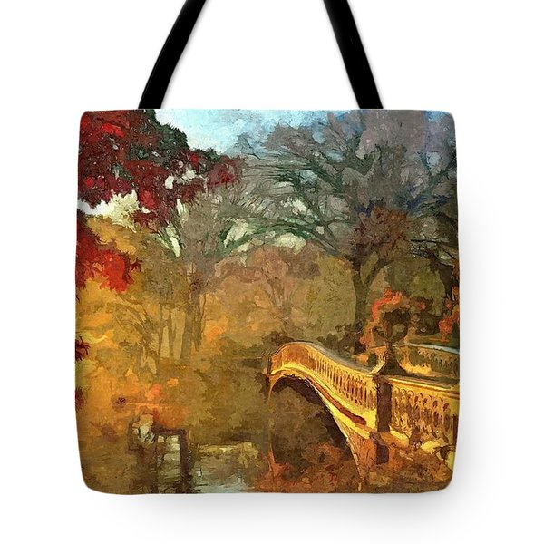 The Bow Bridge Nyc  Tote Bag