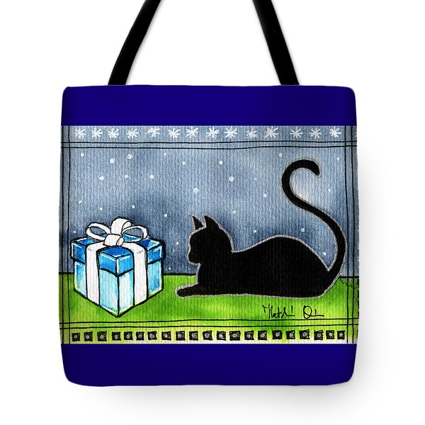 The Box Is Mine - Christmas Cat Tote Bag