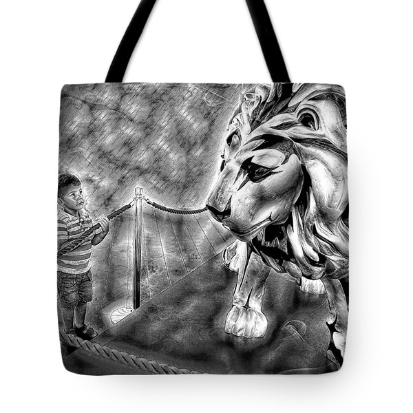 The Boy And The Lion 18 Tote Bag