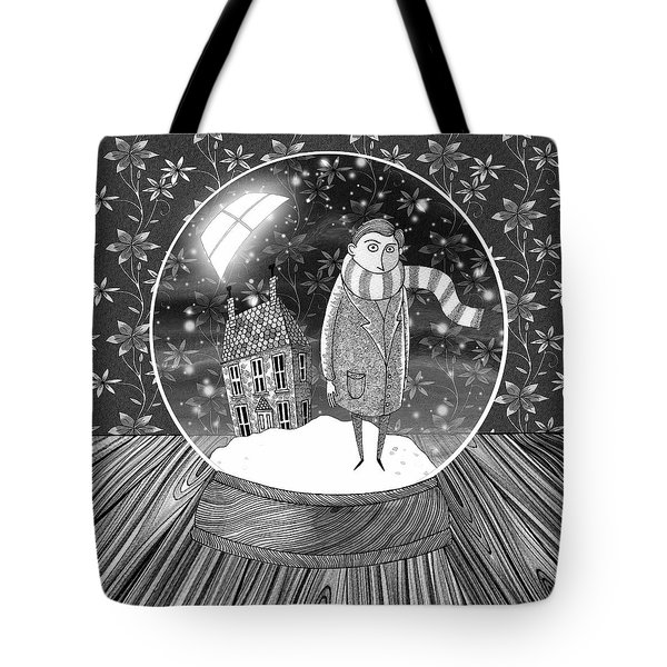 The Boy In The Snow Globe  Tote Bag