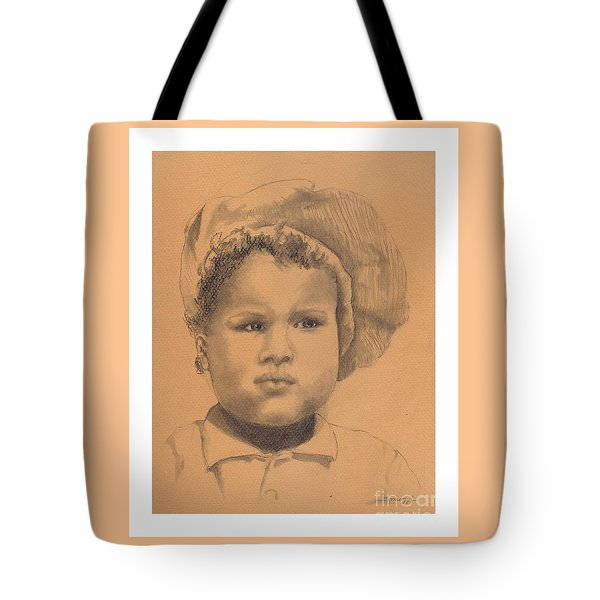 The Boy Who Hated Cheerios -- Portrait Of African-american Child Tote Bag