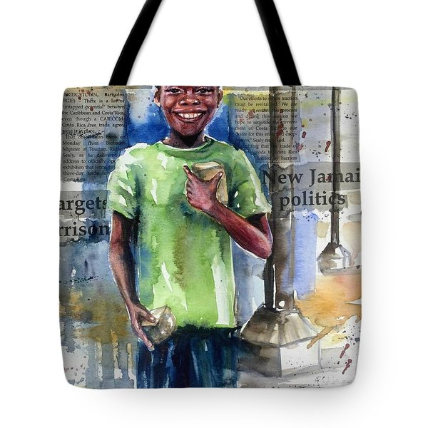 The Boy Who Sells Peanuts Tote Bag