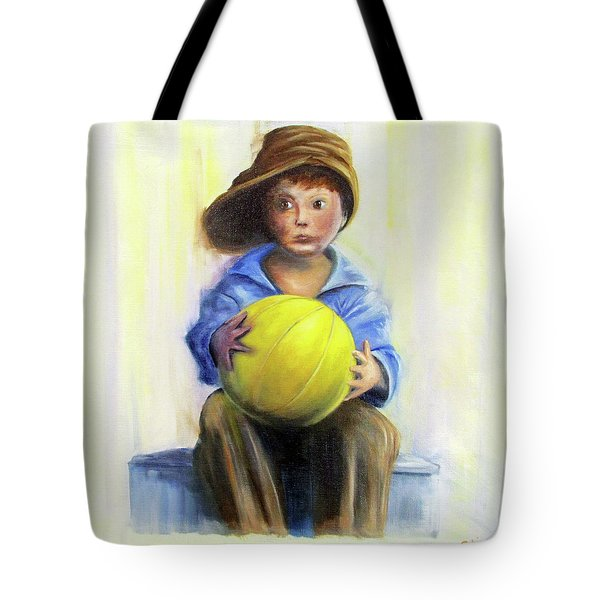 The Boy With The Ball Tote Bag