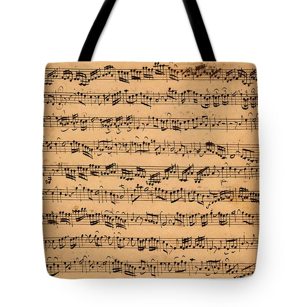The Brandenburger Concertos Tote Bag by Johann Sebastian Bach