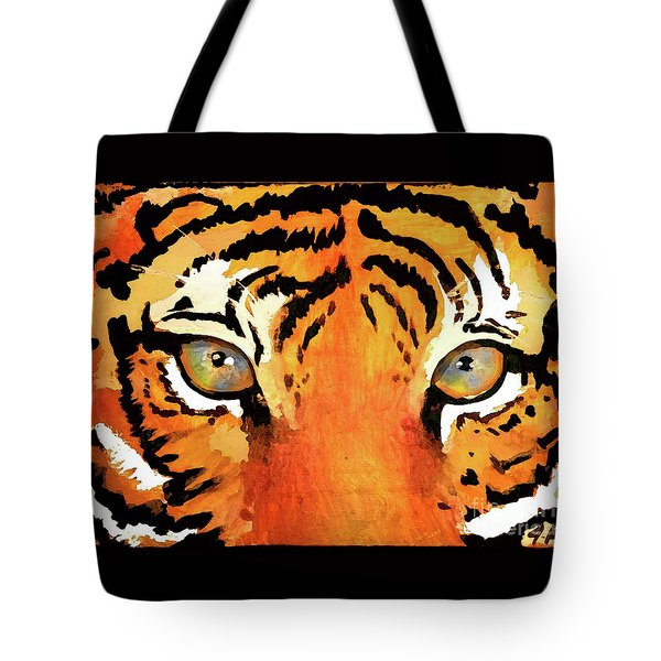 Tote Bag featuring the painting The Brave by Jennifer Page