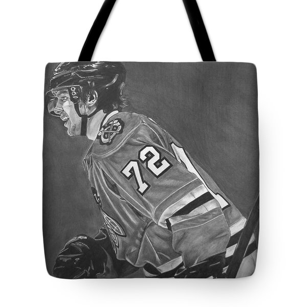 Tote Bag featuring the drawing The Breadman by Melissa Goodrich