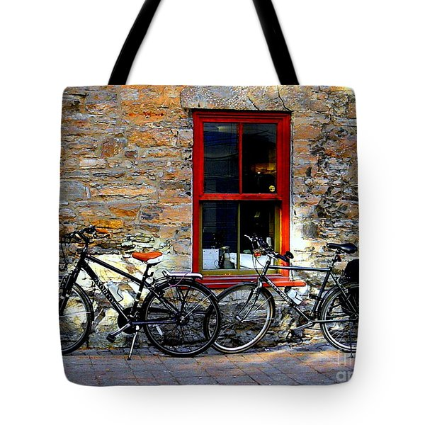 Tote Bag featuring the photograph The Break by Elfriede Fulda