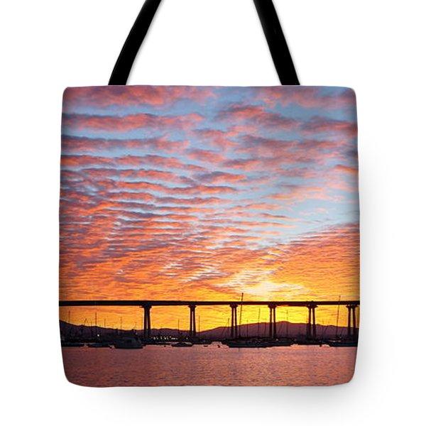The Break Of Dawn In Coronado Tote Bag