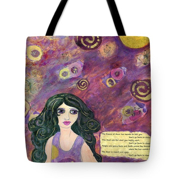 The Breeze At Dawn Tote Bag