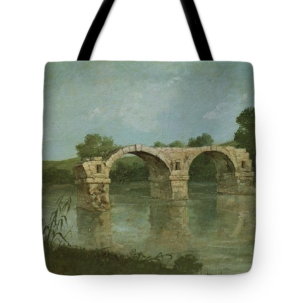 The Bridge At Ambrussum Tote Bag by Gustave Courbet