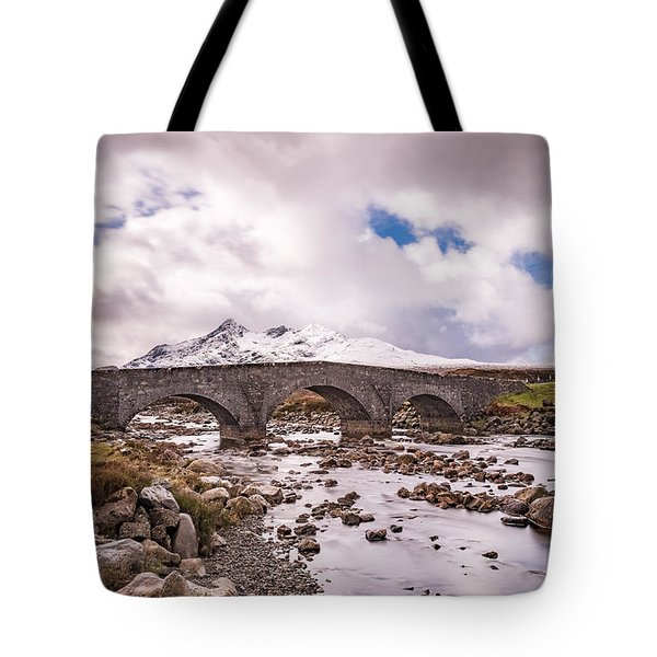 The Bridge At Sligachan On Skye Tote Bag
