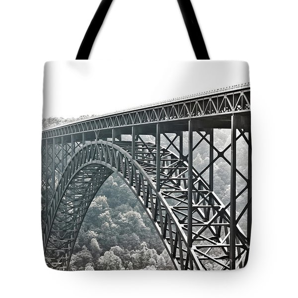 The Bridge B/w Tote Bag