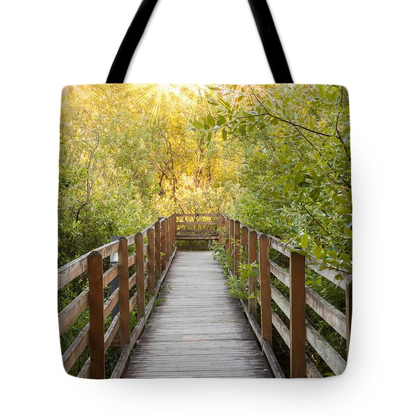 The Bridge Beckons Tote Bag