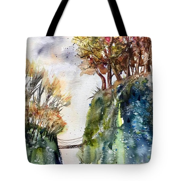 The Bridge Between Two Worlds Tote Bag