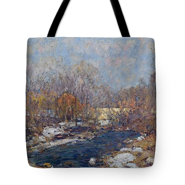 The Bridge  Garfield Park  By William J  Forsyth Tote Bag