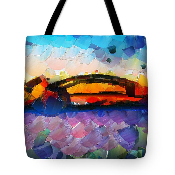 The Bridge I Will Cross Tote Bag by Sir Josef - Social Critic -  Maha Art