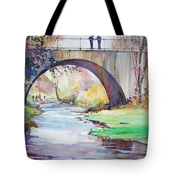 The Bridge Over Brewster Garden Tote Bag