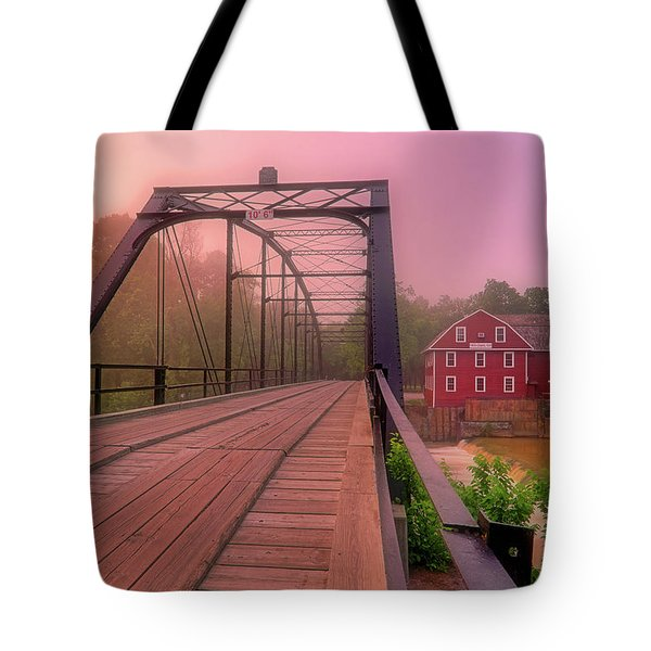The Bridge To War Eagle Mill - Arkansas - Historic - Sunrise Tote Bag