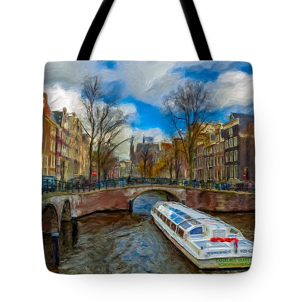 Tote Bag featuring the photograph The Bridges Of Amsterdam by Juan Carlos Ferro Duque