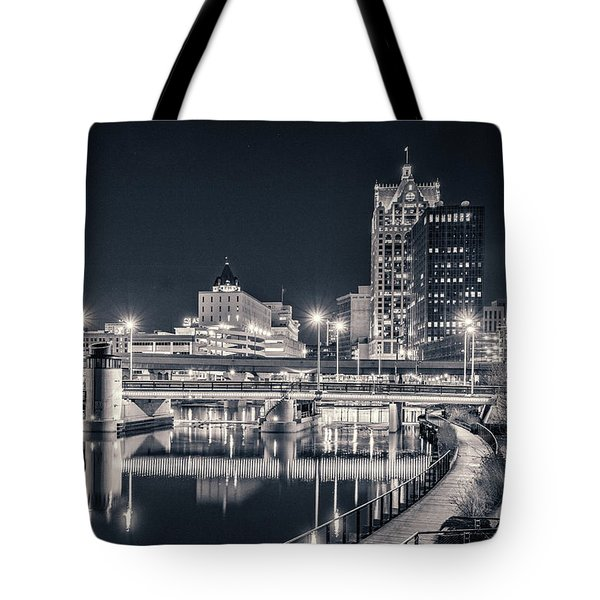 Tote Bag featuring the photograph The Bright Dark Of Night by Bill Pevlor