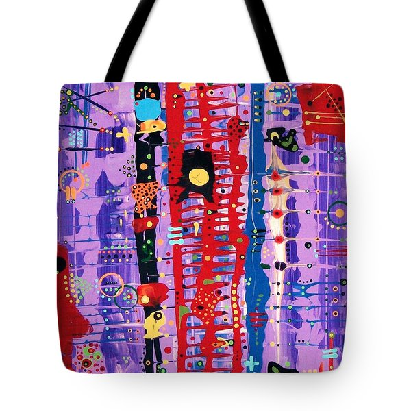 The Bright Red Ladder To Success Tote Bag