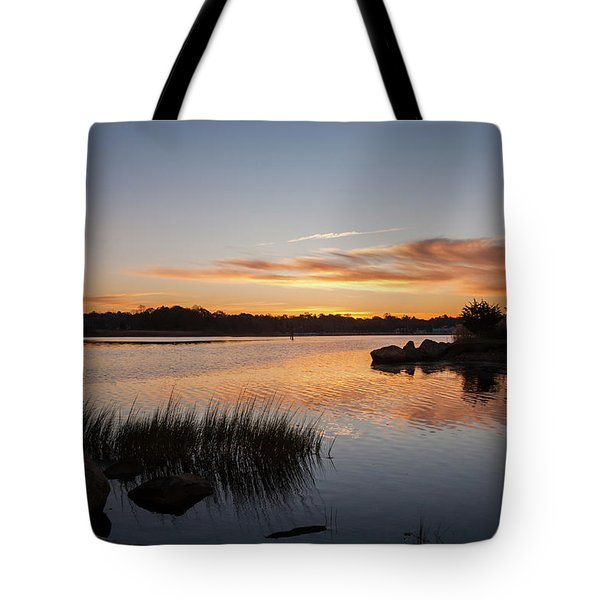 The Brink - Pawcatuck River Sunrise Tote Bag