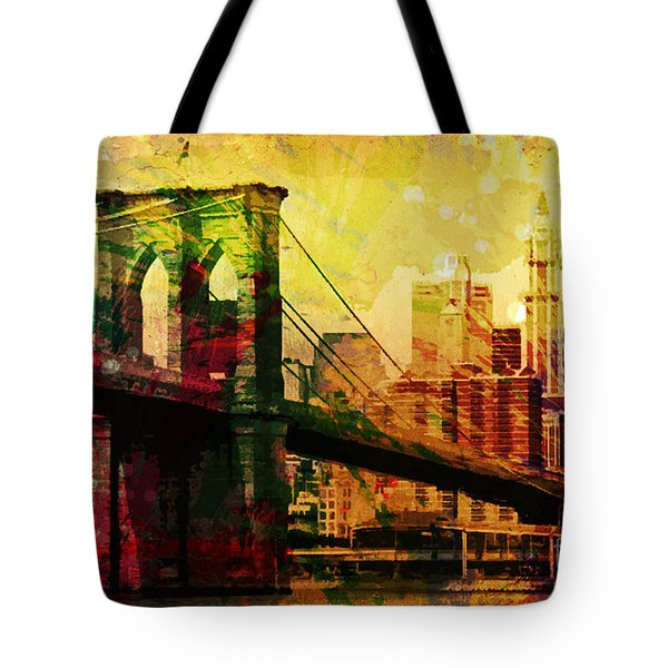 The Brooklyn Bridge Tote Bag by Maria Arango
