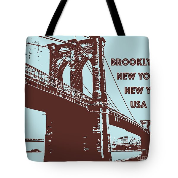 The Brooklyn Bridge, New York, Ny Tote Bag