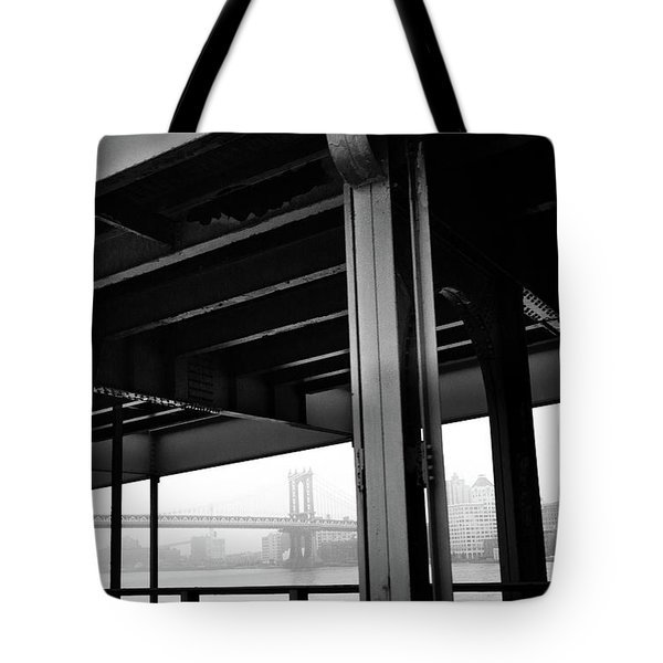 The Brooklyng Bridge And Manhattan Bridge From Fdr Drive Tote Bag