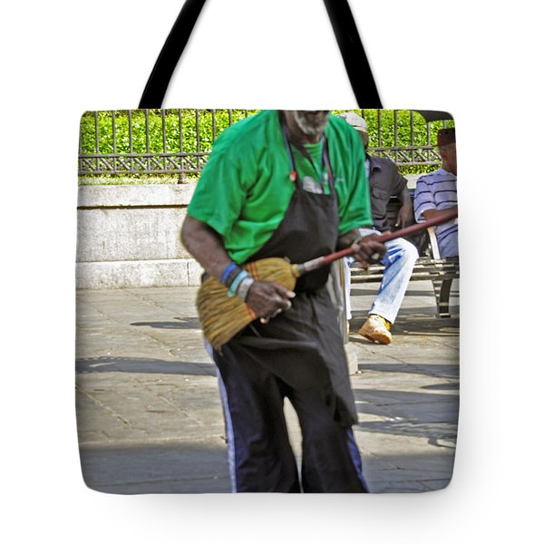The Broom Musician Tote Bag