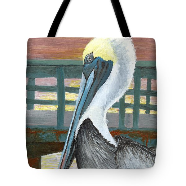 The Brown Pelican Tote Bag