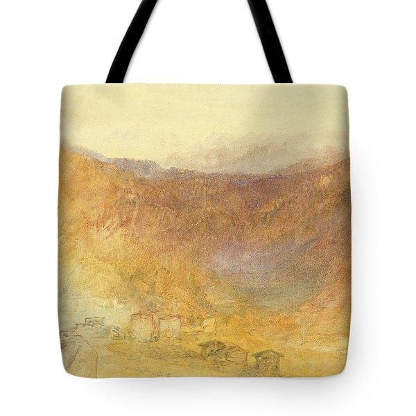 The Brunig Pass From Meiringen Tote Bag by Joseph Mallord William Turner