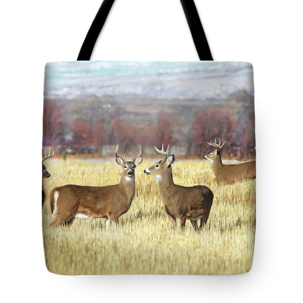 Tote Bag featuring the photograph The Bucks Stop Here White-tail Deer  by Jennie Marie Schell