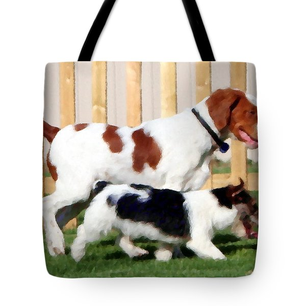 The Buddies Tote Bag by Rebecca Smith