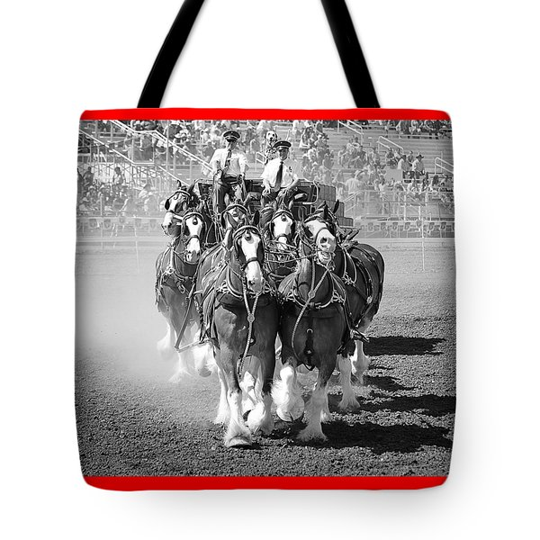 The Budweiser Clydesdales Tote Bag