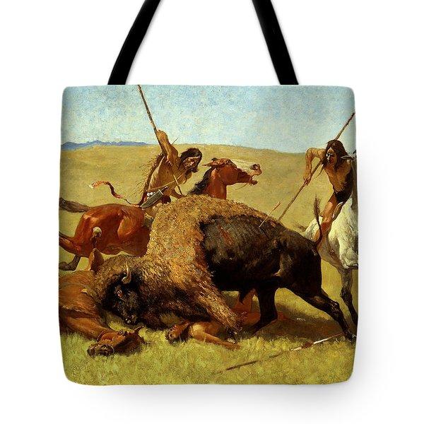 The Buffalo Hunt Tote Bag