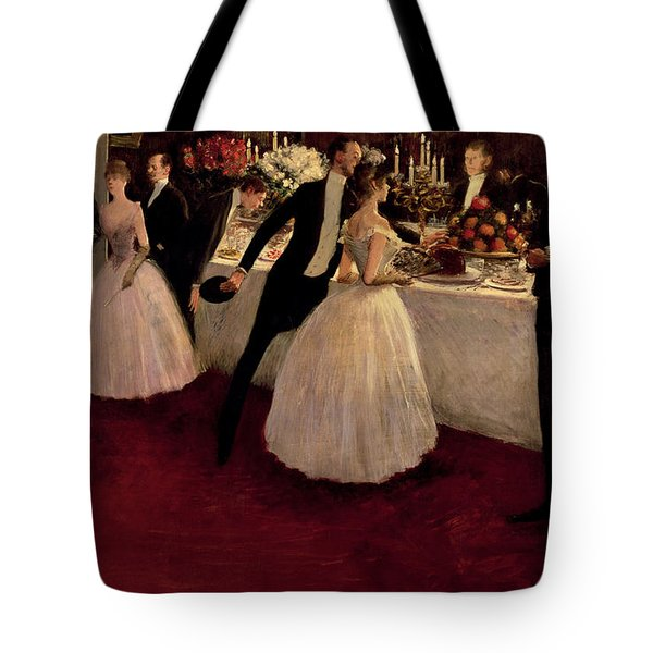 The Buffet Tote Bag by Jean Louis Forain